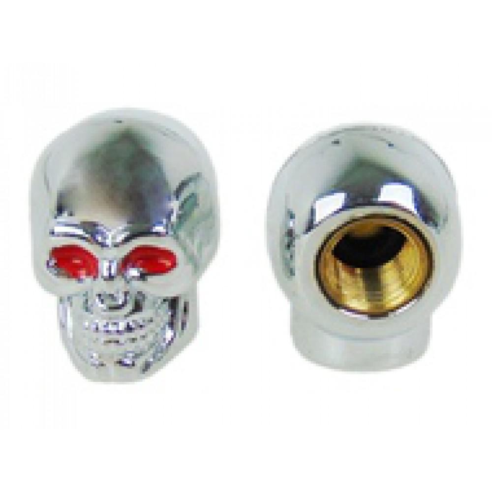 Varžtai – kaukolės – numerio tvirtinimui (sidabr. raud.akys)