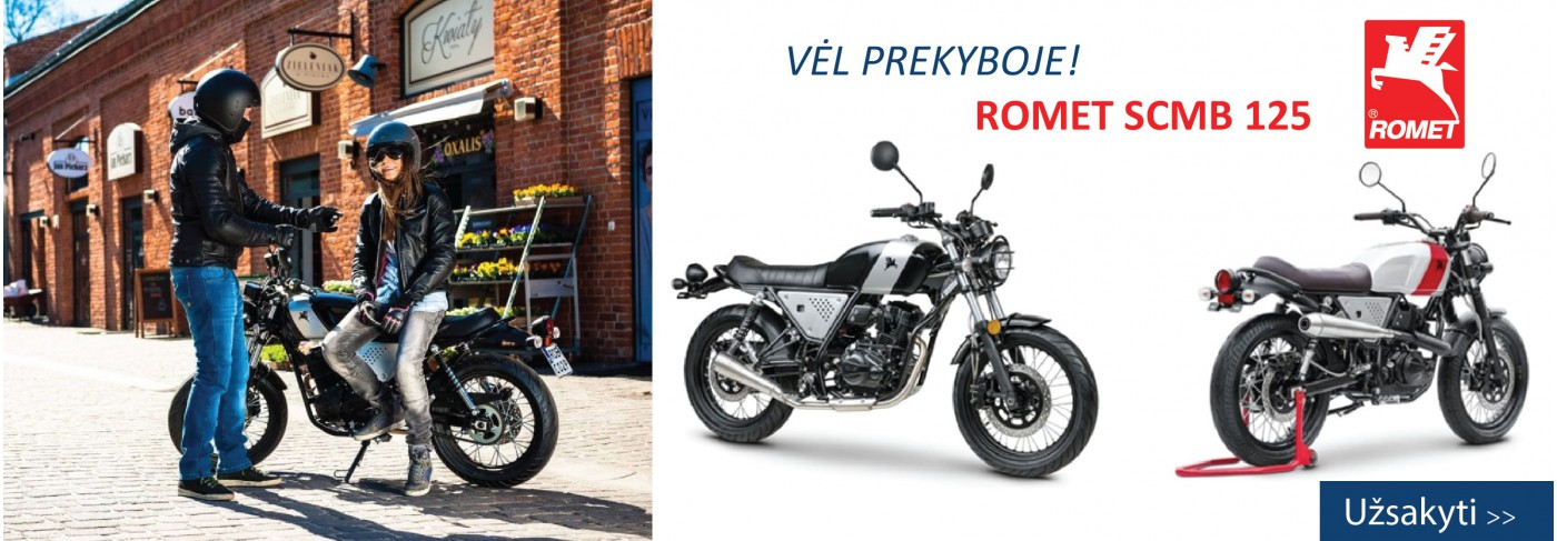Naujas motociklas SCMB 125