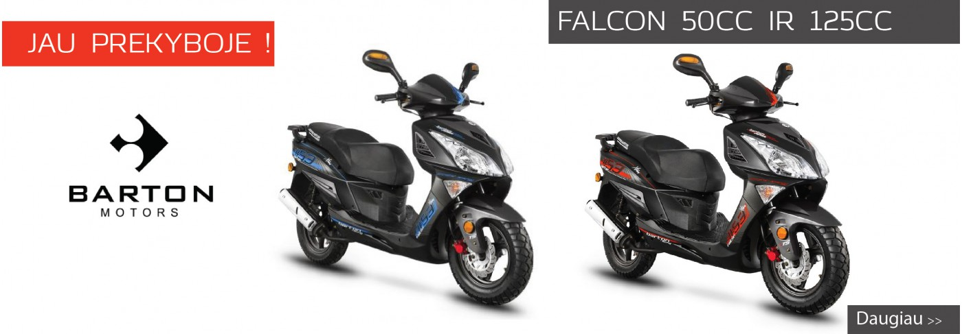 Nauji motoroleriai Barton falcon