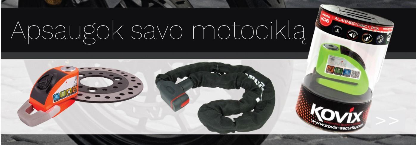 Motociklų, motorolerių apsauga