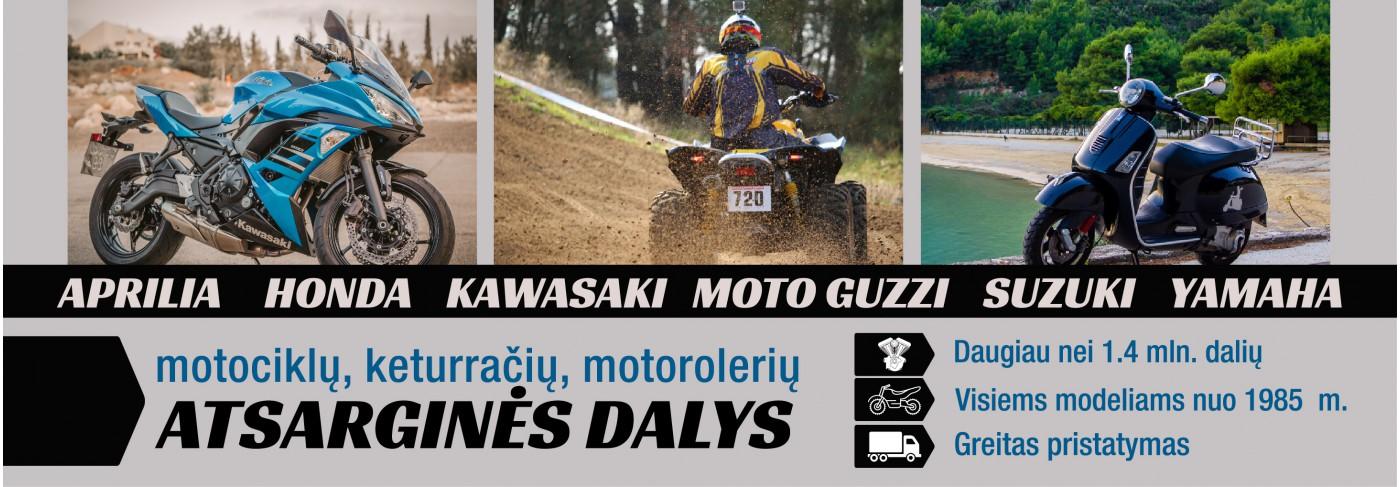 Motociklų, keturačių, motorolerių atsarginės dalys