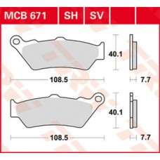 Stabdžių kaladėlės TRW MCB671