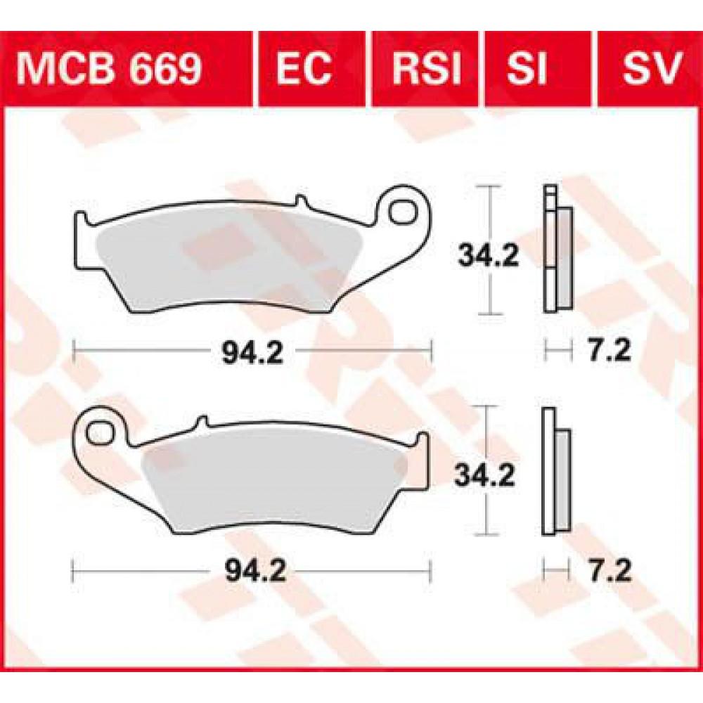 Stabdžių kaladėlės LUCAS MCB669SI