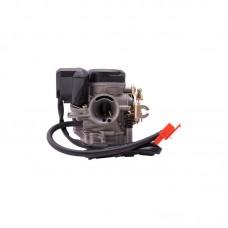 Karbiuratorius Moretti GY6, 50cc 4T,16 mm, automatinis siurbimas, plastikinis dangtelis