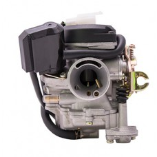 Karbiuratorius Moretti GY6, 50cc 4T, 18 mm automatinis droselis, plastikinis dangtelis