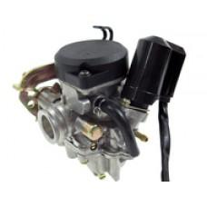 Karbiuratorius varikliui 147/152FMB 70/110cm3 - ATV 70/110 Ø17mm, droselis Ø15mm, rankinis droselis (tipas PZ19 15/17)