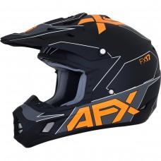 Šalmas krosinis AFX FX-17, juodas oranžinis, matinis