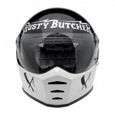 Uždaras Biltwell Lane Splitter Rusty Butcher šalmas